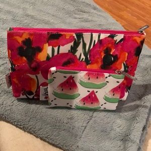 Clinique makeup bag with mini bag.